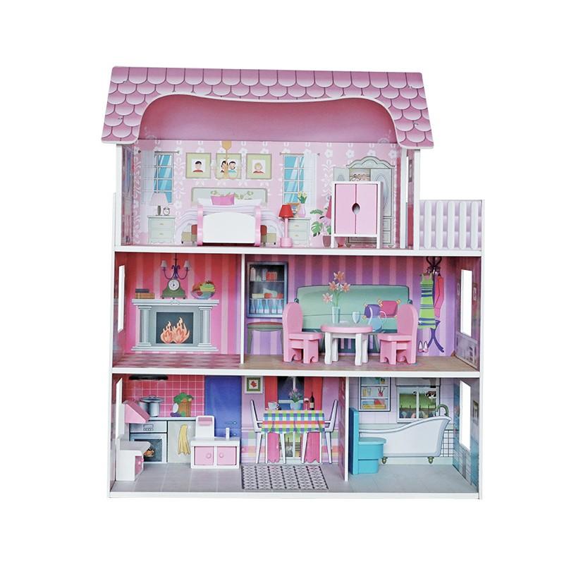 Puppenhaus für Mädchen und Jungen 62x27x70cm Küchen für Kinder
