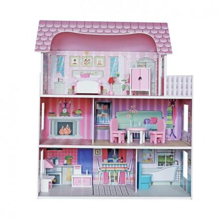 Puppenhaus für Mädchen und Jungen 62x27x70cm