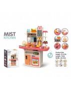Spielküchen für Kinder. Plastik, PVC und Holz Küchen